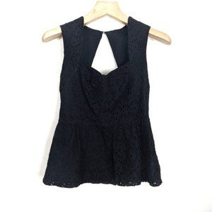 Anthropologie Girls From Savoy Lace Peplum Top